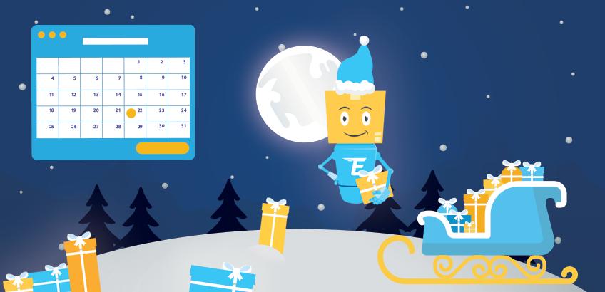 Официални празници и график на доставка преди Коледа.